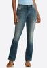 Petite Floral Rhinestone Jeans alternate view