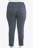 Plus Size Denim Navy Stripe Jeans alternate view