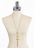Iridescent Stone Chain Tassel Necklace alternate view