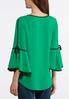 Plus Size Contrast Bell Sleeve Top alternate view