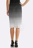 Gradient Dot Pencil Skirt alternate view