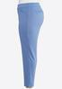 Plus Size Slim Leg Pull- On Pants alternate view