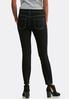 Black Wash Skinny Ankle Jeans alternate view