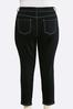 Plus Size Black Wash Skinny Ankle Jeans alternate view