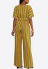 Plus Size Striped Tie Waist Jumpsuit alternate view