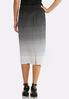 Plus Size Gradient Dot Pencil Skirt alternate view