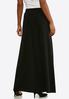 Plus Size Solid Black Maxi Skirt alternate view