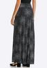 Plus Size Dotted Faux Wrap Maxi Skirt alternate view