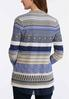 Plus Size Mixed Stripe Aztec Cardigan alternate view