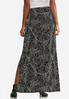 Plus Size Puff Dotted Scroll Maxi Skirt alternate view