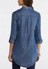 Plus Size Foiled Dot Chambray Tunic alternate view