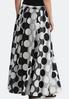 Black White Swing Maxi Skirt alternate view