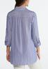 Plus Size Blue And White Striped Shirt alternate view