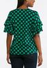 Green Polka Dotted Top alternate view