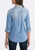 Plus Size Button Down Denim Shirt alternate view