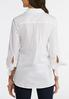 Plus Size Tie Sleeve Button Down Shirt alternate view