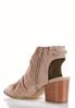 Wide Width Faux Suede Ruched Shooties alternate view