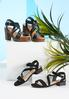 Cross Strap Low Heeled Sandals alternate view