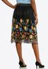 Plus Size Mesh Floral Embroidered Skirt alternate view
