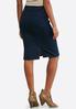 Plus Extended Pull- On Denim Pencil Skirt alternate view