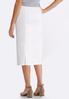 Plus Size White Denim Pencil Skirt alternate view