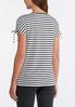 Stripe Lace Up Sleeve Top alternate view