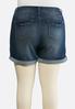 Plus Size Cuffed Denim Shorts alternate view