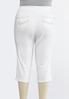 Plus Size White Cropped Jeans alternate view