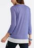 Plus Size Layered Side Tie Top alternate view