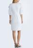 Plus Size Ruffled Lace Sleeve Shift Dress alternate view