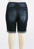 Plus Size Curvy Shape Enhancing Denim Shorts alternate view