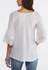 Plus Size Scalloped Lace Trim Top alternate view