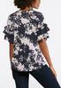 Plus Size Floral Lace Flutter Sleeve Top alternate view