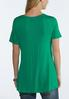 Plus Size Ruched Solid Tee alternate view