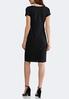 Plus Size Solid Textured Midi Dress alternate view