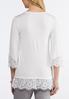 Lace Trim Tunic Sweater alternate view
