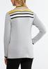 Plus Size Gold Stripe Cardigan Sweater alternate view