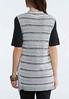 Plus Size Multi Stripe Cardigan Sweater alternate view