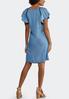 Chambray Flutter Sleeve Dress alternate view