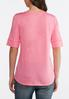 Plus Size Elbow Sleeve Solid Tee alternate view