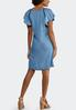 Plus Size Chambray Flutter Sleeve Dress alternate view