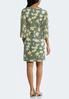 Floral Pleated Sleeve Dress alternate view