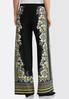 Petite Gold Floral Palazzo Pants alternate view