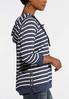 Striped Navy Fleece Hoodie alternate view