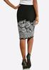 Textured Floral Pencil Skirt alternate view