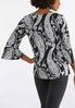 Plus Size Paisley Flutter Sleeve Top alternate view