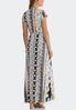 Plus Size Floral Stripe Maxi Dress alternate view