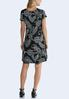 Plus Size Puff Dotted Paisley Swing Dress alternate view