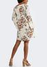 Plus Size Ivory Floral Swing Dress alternate view