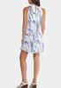 Plus Size Pleated Print Swing Dress alternate view